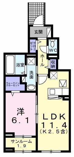 武蔵野ハイツ2・01020号室の間取り