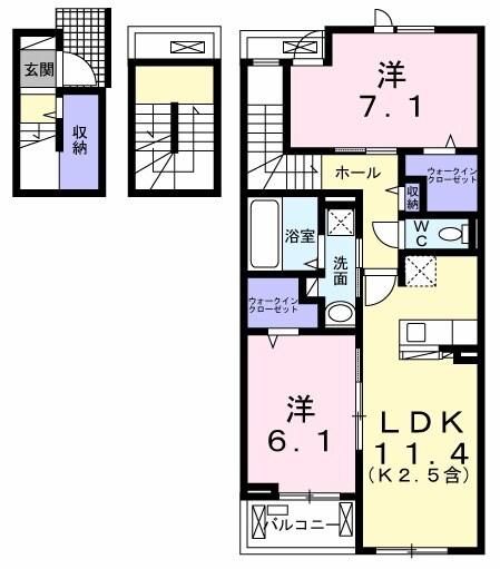 武蔵野ハイツ2・03020号室の間取り