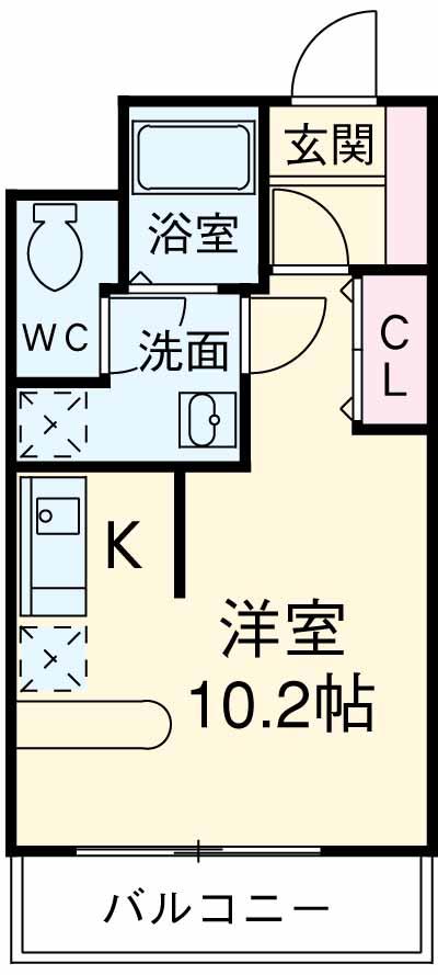 コリドール天神川 302号室の間取り