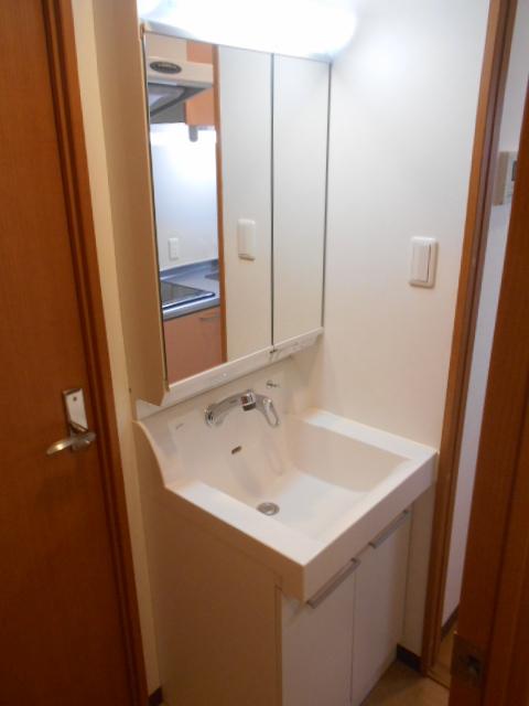 コリドール天神川 302号室の洗面所