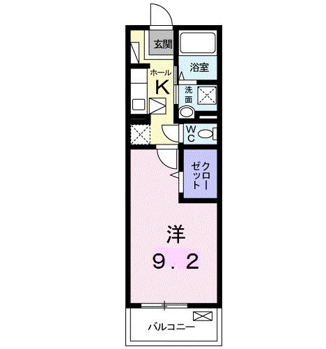 アニメート堀・01030号室の間取り