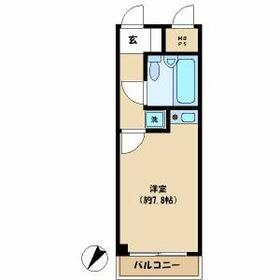 ライオンズマンション武蔵小杉第2・412号室の間取り