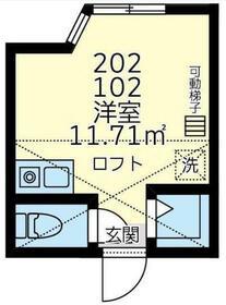 ユナイトKANSEIジョージ・マロリー・102号室の間取り