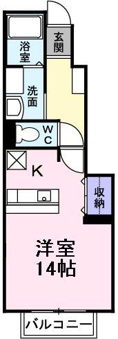 ウルー アンジュⅡ・01020号室の間取り