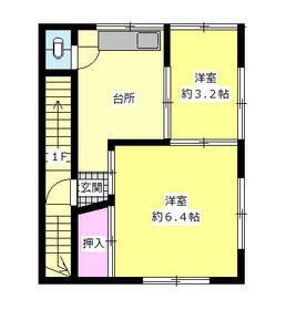 渡辺ビル・2F号室の間取り
