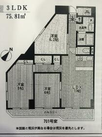 岡野パークハイツ・701号室の間取り