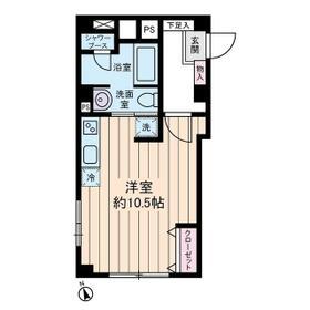 原宿コーポ・0104号室の間取り