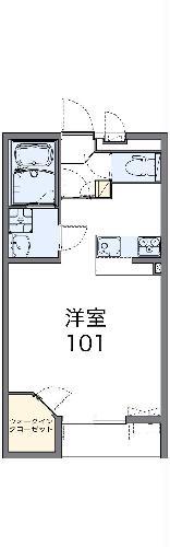 レオネクストアルメリア 102号室間取り図