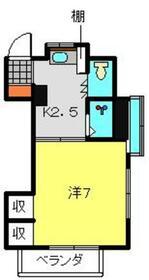 藤井コーポ・2B号室の間取り