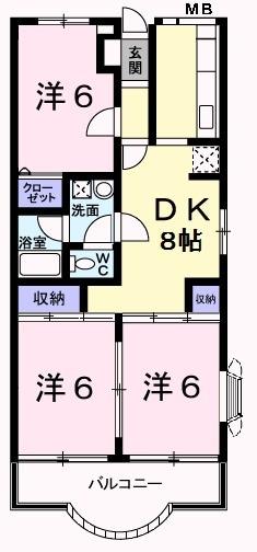 ベルクハウス 03010号室の間取り