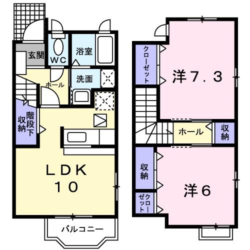 ピュアコーポ Ⅲ・01010号室の間取り