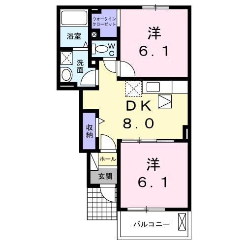 ユニゾン ガーデン Ⅰ・01030号室の間取り