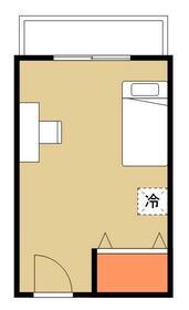 ヒッポハウス北戸田・511号室の間取り