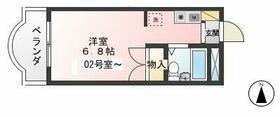 サカイハイツV 302号室間取り図