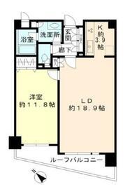 ヒューリック目黒三田・407号室の間取り