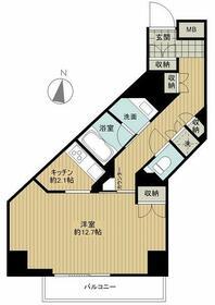 フィールA渋谷・1002号室の間取り
