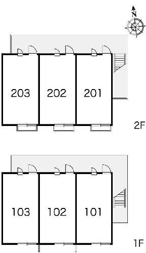 レオパレス西蔵前2 102号室のリビング