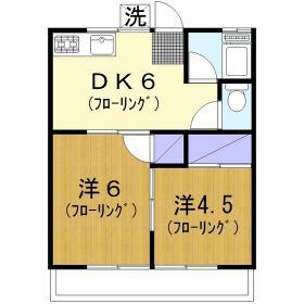 千本桜荘・203号室の間取り