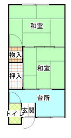 石田アパート・102号室の間取り