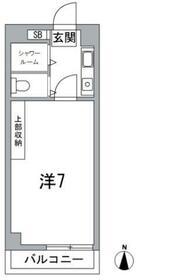 クレシェンド鷺宮・303号室の間取り