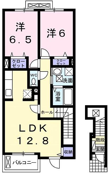 ブリッサ Ⅱ・02030号室の間取り