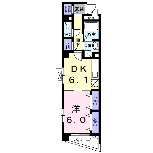錦・04020号室の間取り