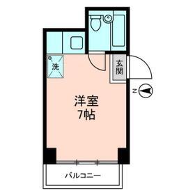 トクスケマンション・0101号室の間取り