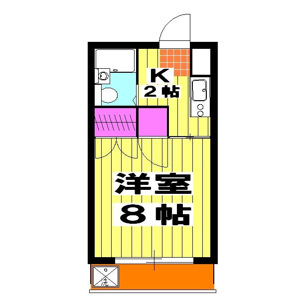 島田マンション・203号室の間取り
