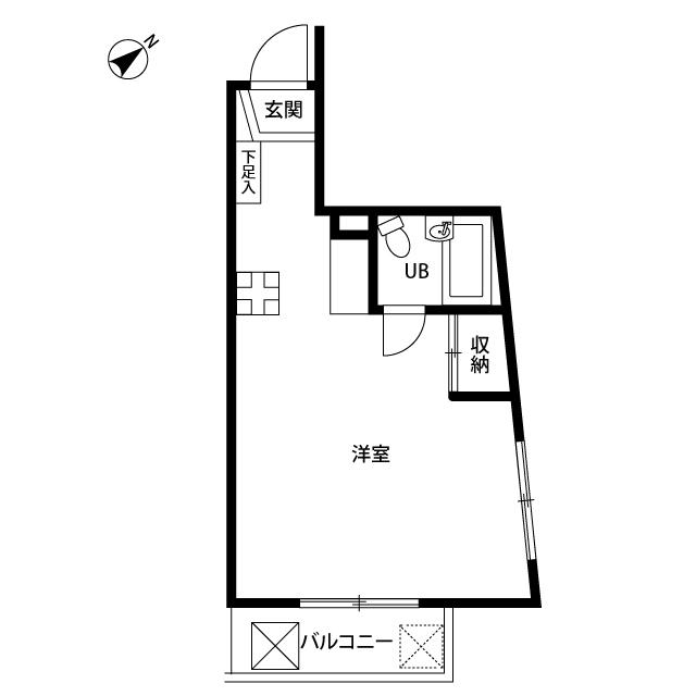 プレール西高島平 301号室の間取り