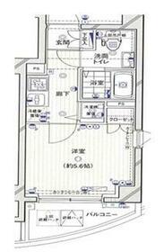 エクセリア渋谷富ヶ谷 503号室の間取り