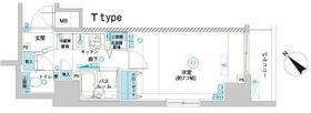 フェニックス横浜関内BAY GAIA・510号室の間取り