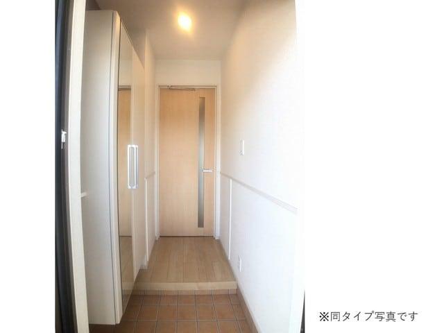 ミルキーウェイB 01040号室の玄関