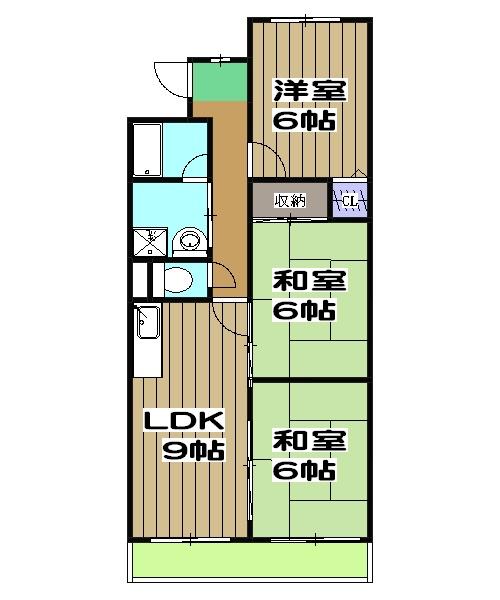 嵯峨野ロイヤルハイツ 405号室の間取り