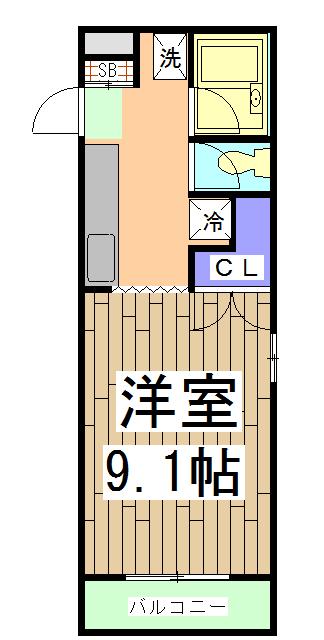 CORE-Ⅰ 401号室の間取り