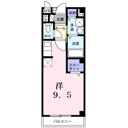 浜寺ヴィラ・01010号室の間取り