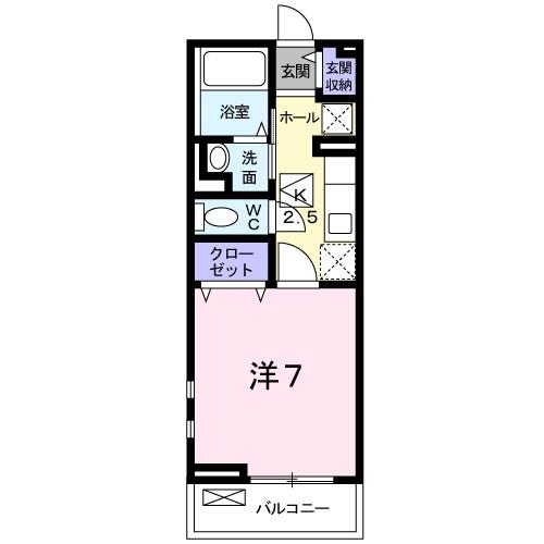エレガント高松・01030号室の間取り