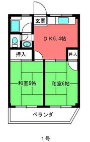 サニーハイツ竹ノ塚・401号室の間取り