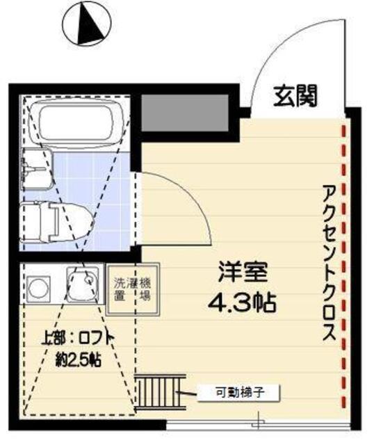 R-STYLE竹ノ塚 2nd・205号室の間取り