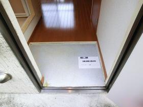 てのひら荘 201号室の玄関