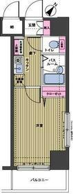 トーシンフェニックス日本橋三越前・504号室の間取り