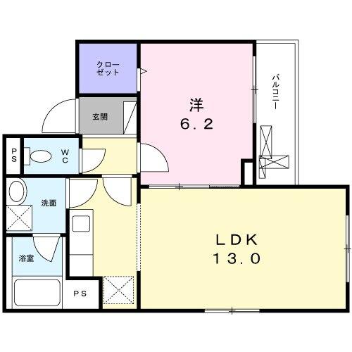 ラ・フォレスタ・コーワ・01020号室の間取り