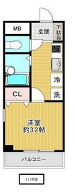 ハートフルマンション・311号室の間取り