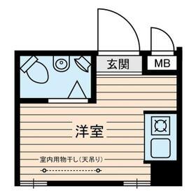 柳橋ビル・0406号室の間取り
