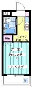 マリーナハウス横浜Ⅱ番館 413号室の間取り