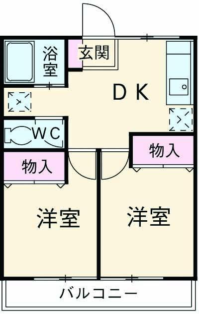 フィグラ成城・103号室の間取り
