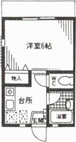 武蔵野ハイツ・102号室の間取り