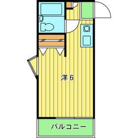 コンチネンタルハイム石神井台 203号室の間取り