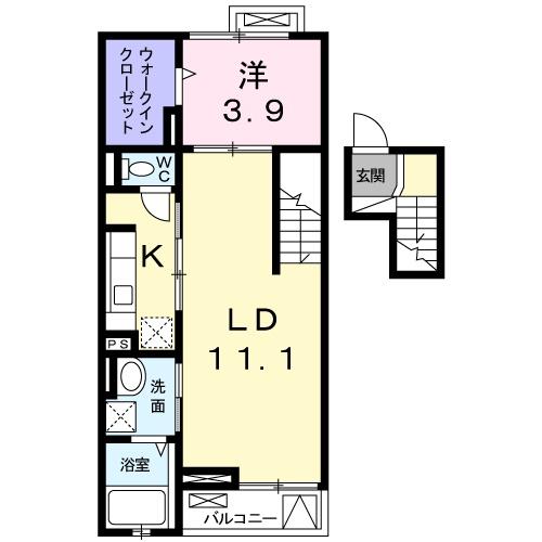 カラマ・マナ 三宿・04030号室の間取り