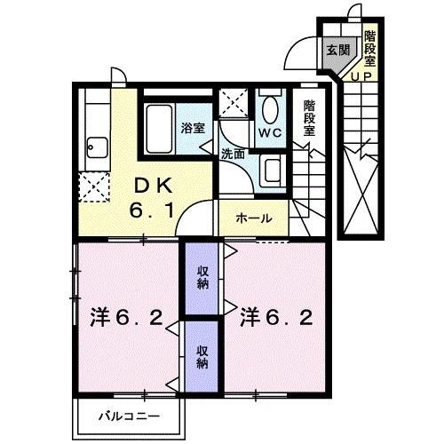 ガーデンハイツ A棟・02020号室の間取り