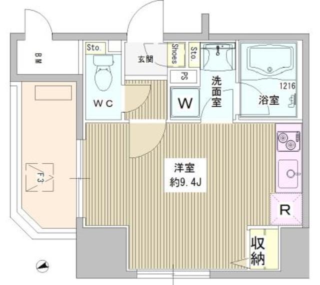 フェアステージ武蔵野・1001号室の間取り